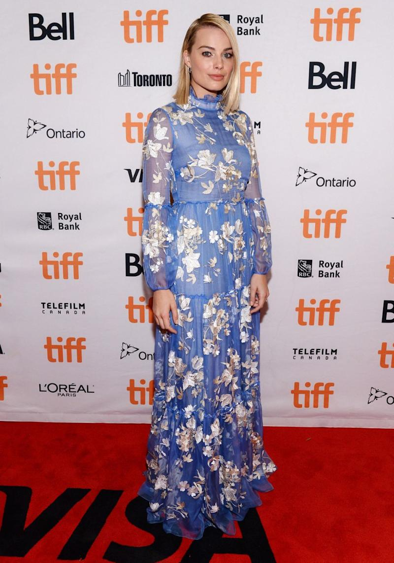 Margot pictured promoting the film at Toronto International Film Festival this month. Source: Getty