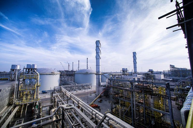 View shows Saudi Aramco's Wasit Gas Plant