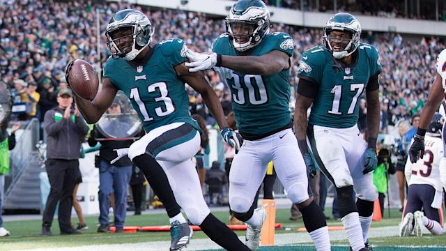<p>Which borderline players in Eagles-Giants are worth starting in fantasy this week? By Corey Seidman</p>