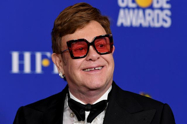 Elton John joined in with his message. (Getty Images)