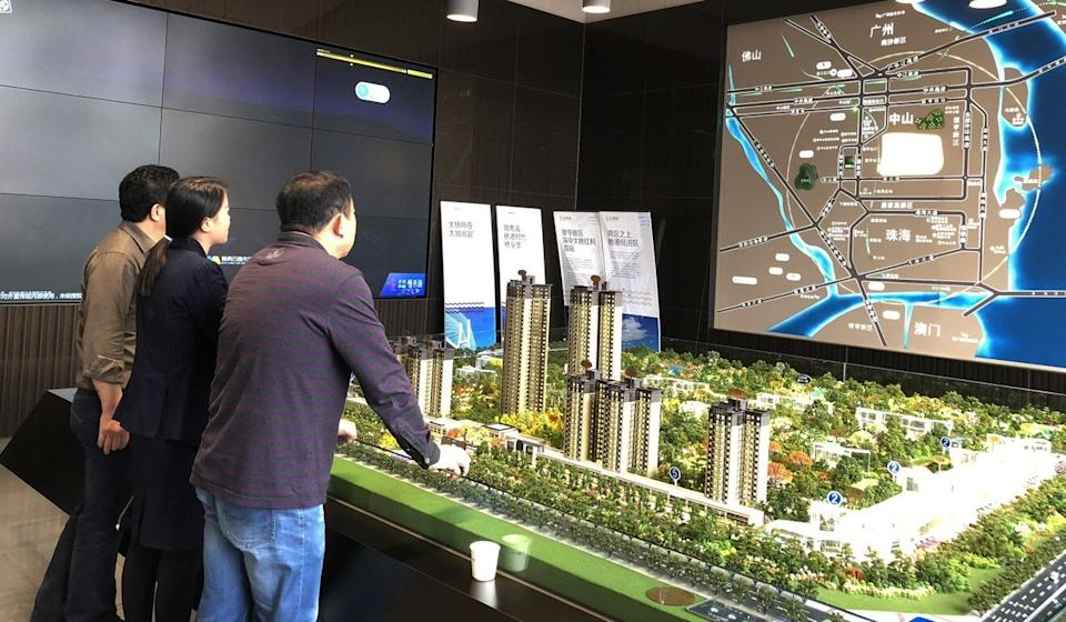 Property sales in China have been hit because of the coronavirus outbreak and the resulting slowdown. Photo: Pearl Liu