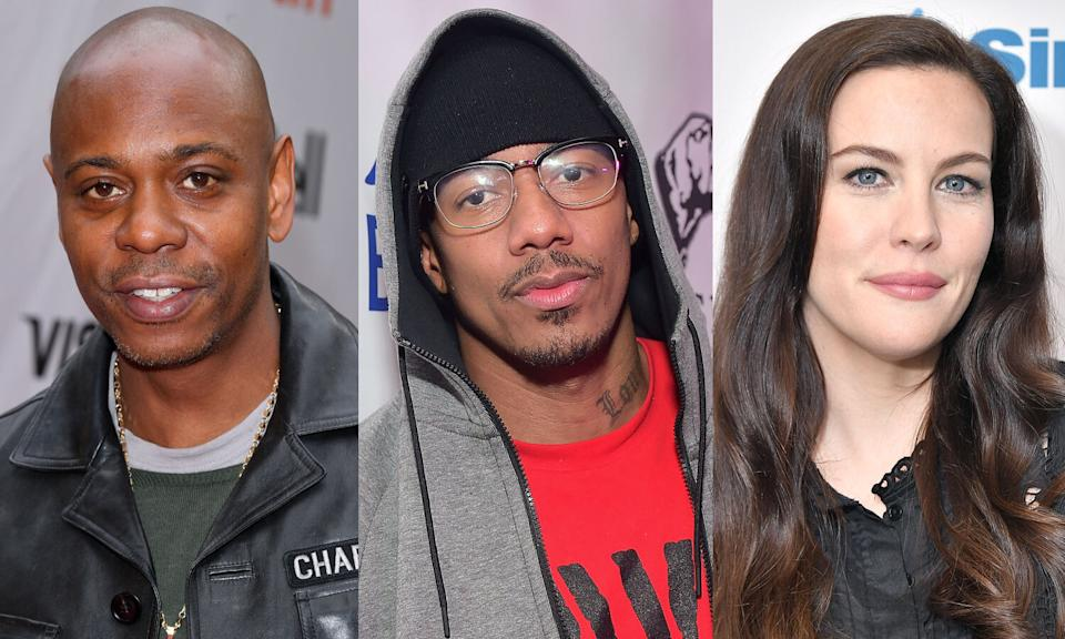 Dave Chappelle, Nick Cannon and Liv Tyler have all had COVID-19. (Photo: Getty Images)