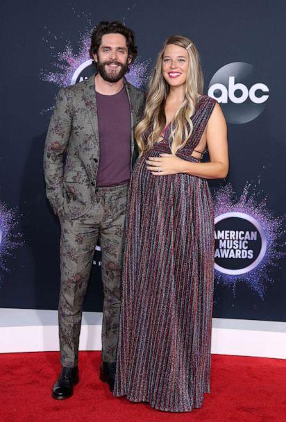 PHOTO: Thomas Rhett and Lauren Akins attend the 2019 American Music Awards, Nov. 24, 2019, in Los Angeles. (Rich Fury/Getty Images)