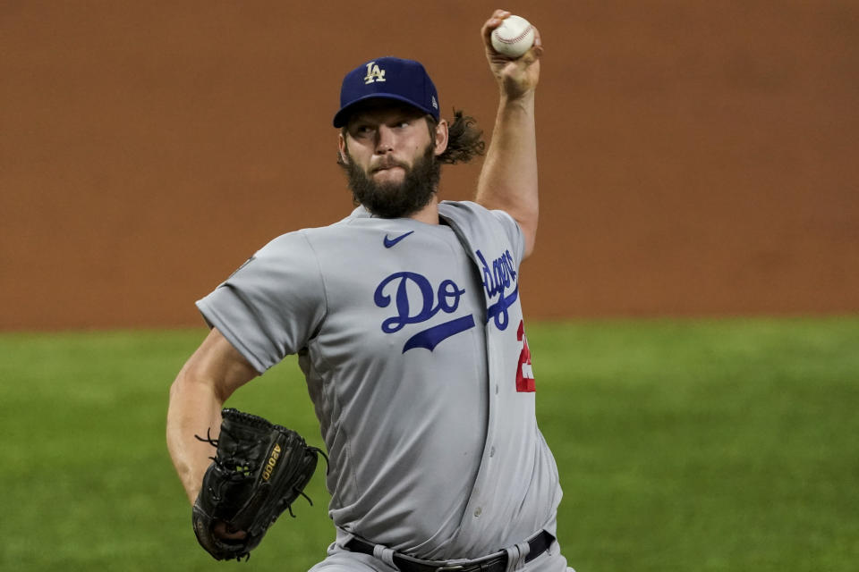 Dodgers star Clayton Kershaw came through in World Series Game 5. (Photo by Cooper Neill/MLB Photos via Getty Images)