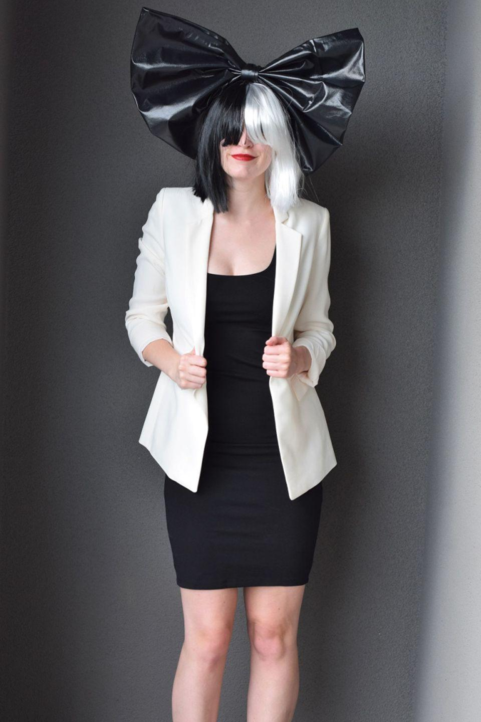"""<p>Here's a cheap thrill: The only thing you need to buy for this Sia costume is her signature two-toned wig. If you have a +1, convince them to dress up as Maddie Ziegler, so you can be a well-rounded pair. </p><p><a class=""""link rapid-noclick-resp"""" href=""""https://www.amazon.com/dp/B07KYDZNDY/ref=dp_prsubs_2?tag=syn-yahoo-20&ascsubtag=%5Bartid%7C10055.g.2750%5Bsrc%7Cyahoo-us"""" rel=""""nofollow noopener"""" target=""""_blank"""" data-ylk=""""slk:SHOP WIGS"""">SHOP WIGS</a></p><p><em><a href=""""https://bunnybaubles.com/2016/10/24/diy-sia-costume/"""" rel=""""nofollow noopener"""" target=""""_blank"""" data-ylk=""""slk:See more on Bunny Baubles »"""" class=""""link rapid-noclick-resp"""">See more on Bunny Baubles »</a></em></p>"""