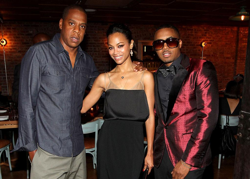 "Though Jay-Z and Nas once had a years-long public feud going, they've not only buried the hatchet, but Jay-Z is even attending his birthday party! The hip-hop mogul posed with Zoe and the birthday boy. Jerritt Clark/<a href=""http://www.wireimage.com"" target=""new"">WireImage.com</a> - September 14, 2011"