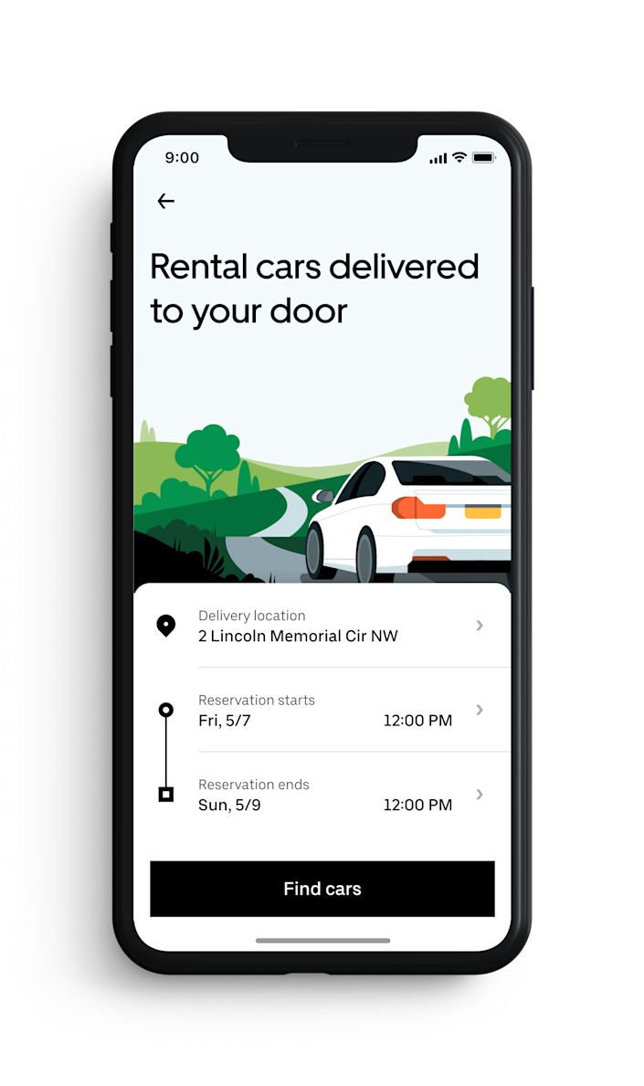 Uber Rent lets users rent a car on the Uber app from providers like Avis, Hertz and more, and is working on a valet service that will bring rental cars to users' front door.