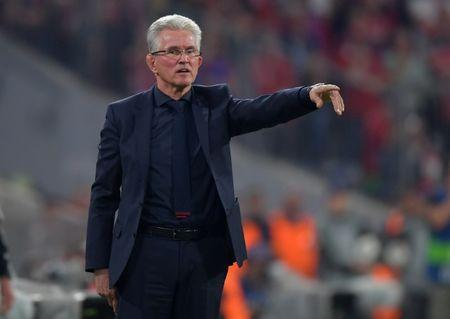 Soccer Football - Champions League Semi Final First Leg - Bayern Munich vs Real Madrid - Allianz Arena, Munich, Germany - April 25, 2018 Bayern Munich coach Jupp Heynckes REUTERS/Thorsten Wagner