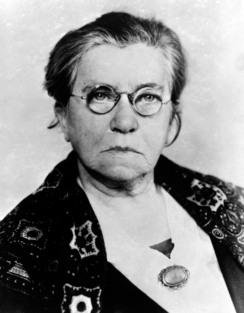 NON SPECIFIE - CIRCA 1934: Portrait d'Emma Goldman, activiste politique, libertaire et feministe, circa 1934. (Photo by Keystone-France\Gamma-Rapho via Getty Images)