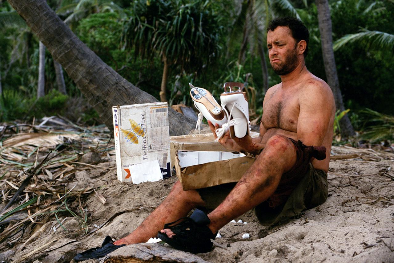 """Tom Hanks gained 40 pounds (and then lost it) for """"Castaway."""""""