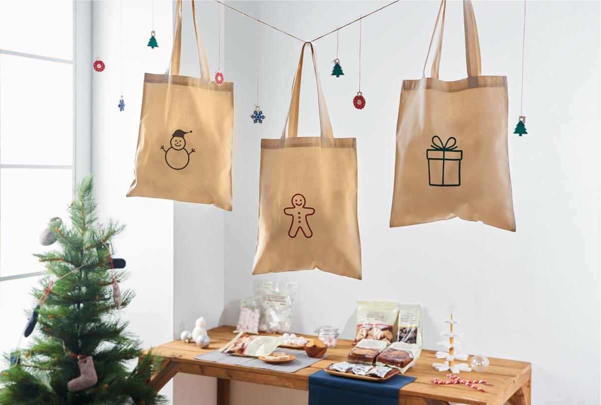 <p>For anyone and everyone – MUJI Cotton myBag Christmas sets with sweet treats inside ($15 each)</p>