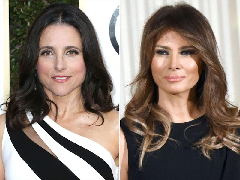 Julia Louis-Dreyfus (left) and Melania Trump