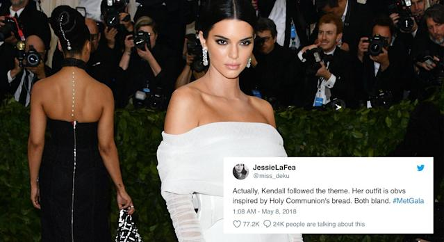 Kendall Jenner was the subject of many memes. (Photo: Getty/Twitter JessieLaFea)