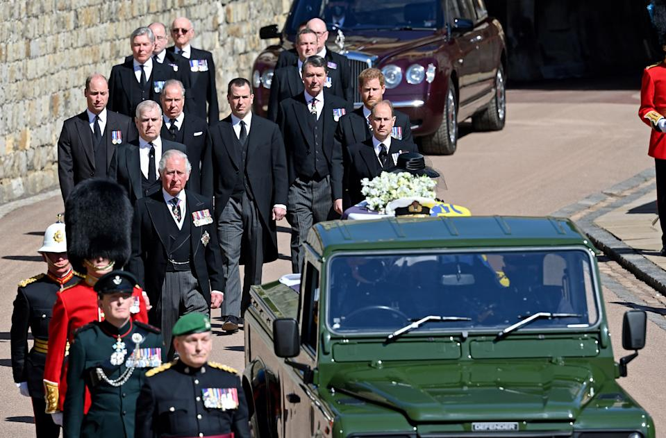 """<h1 class=""""title"""">The Funeral Of Prince Philip, Duke Of Edinburgh Is Held In Windsor</h1><cite class=""""credit"""">Pool/Max Mumby, Getty Images</cite>"""