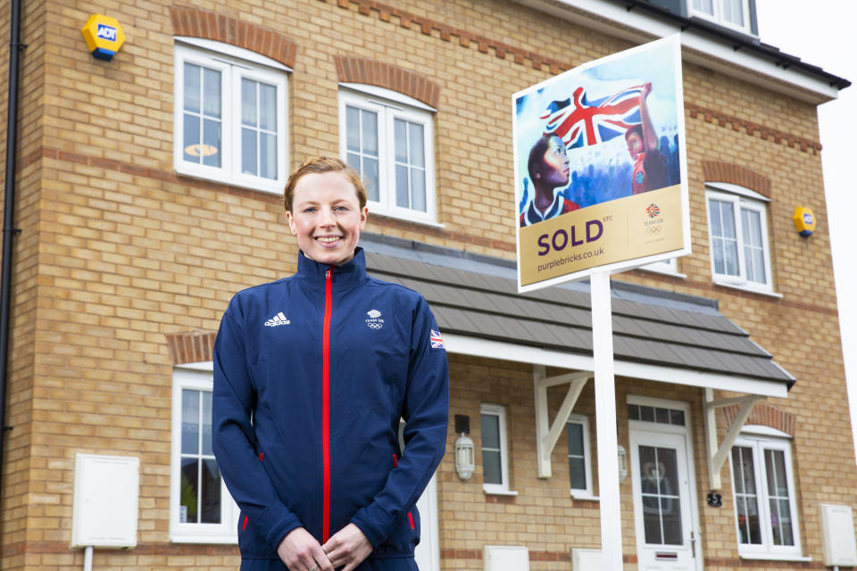 Taylor-Brown attended the reveal of a Purplebricks sales board in Leeds, the first in the city to be adorned by one of three inspiring artworks commissioned to rally support for Team GB
