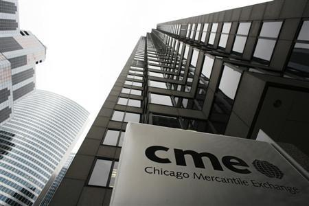 The Chicago Mercantile Exchange is pictured