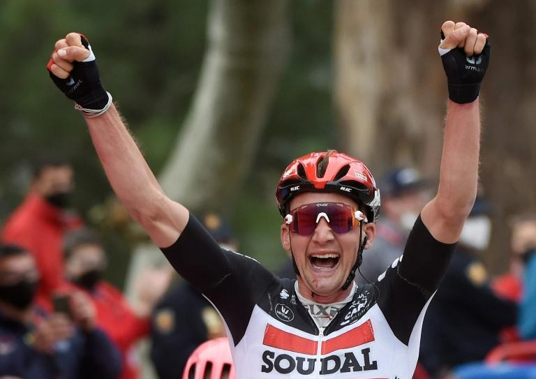 Tim Wellens won for the second time on this year's Vuelta