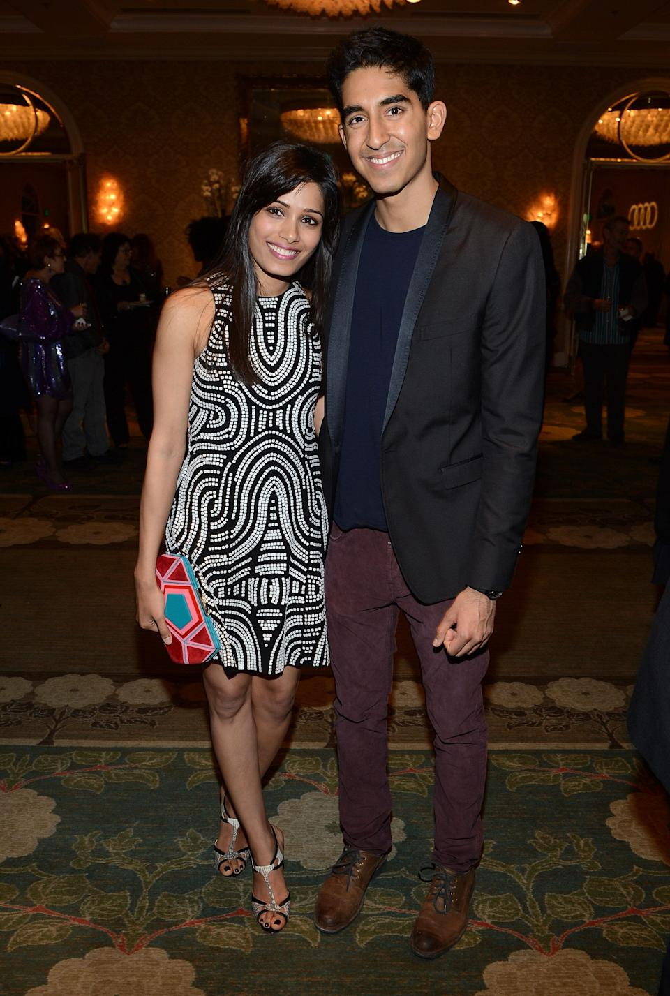 Patel and Pinto at the BAFTA Los Angeles 2013 Awards Season Tea Party at the Four Seasons Hotel Los Angeles on Jan. 12, 2013.