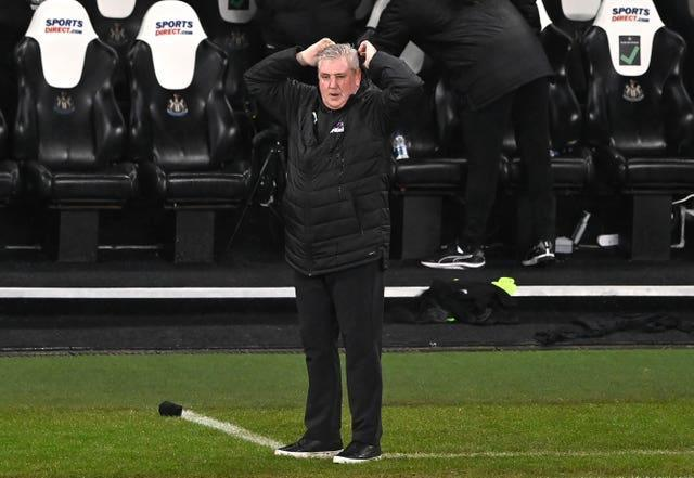 Under-fire Steve Bruce saw his Newcastle side lose to Crystal Palace in midweek.