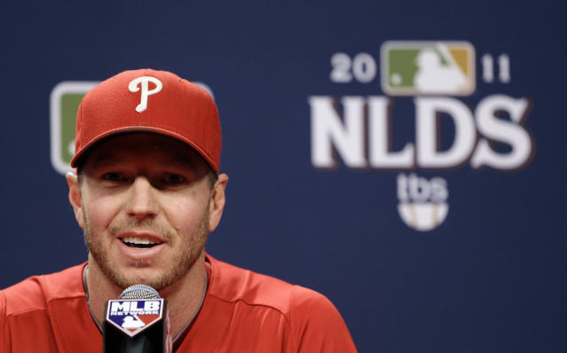 Roy Halladay's family released a statement through MLB. (AP Photo/Matt Slocum)