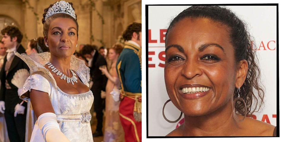 """<p><strong>Who is Adjoa Andoh?</strong></p><p>A 57-year-old Bristol-born British actor who is well-respected in the theatre world and a familiar face for British viewers.</p><p><strong>Have I seen her before?</strong></p><p>Yes, it's very likely as she is an extremely acclaimed British actor with a particularly impressive legacy when it comes to the stage, including lead roles for the Royal Shakespeare Company. Andoh played Richard II at the world famous Globe theatre in the first Shakespeare play to be performed and staged entirely by women of colour (<a href=""""https://www.elle.com/uk/life-and-culture/culture/a34519730/culture-fixers/"""" rel=""""nofollow noopener"""" target=""""_blank"""" data-ylk=""""slk:and directed by Lynette Linton"""" class=""""link rapid-noclick-resp"""">and directed by Lynette Linton</a>).</p><p>TV wise, Andoh played Nurse Collette Griffiths in Casualty for 10 years, starred in two series of Doctor Who, and was in Eastenders for a year in the early Nineties. Andoh made her Hollywood debut in 2010 with the Morgan Freeman-starring and Clint Eastwood-directed Nelson Mandela biopic, Invictus.</p>"""