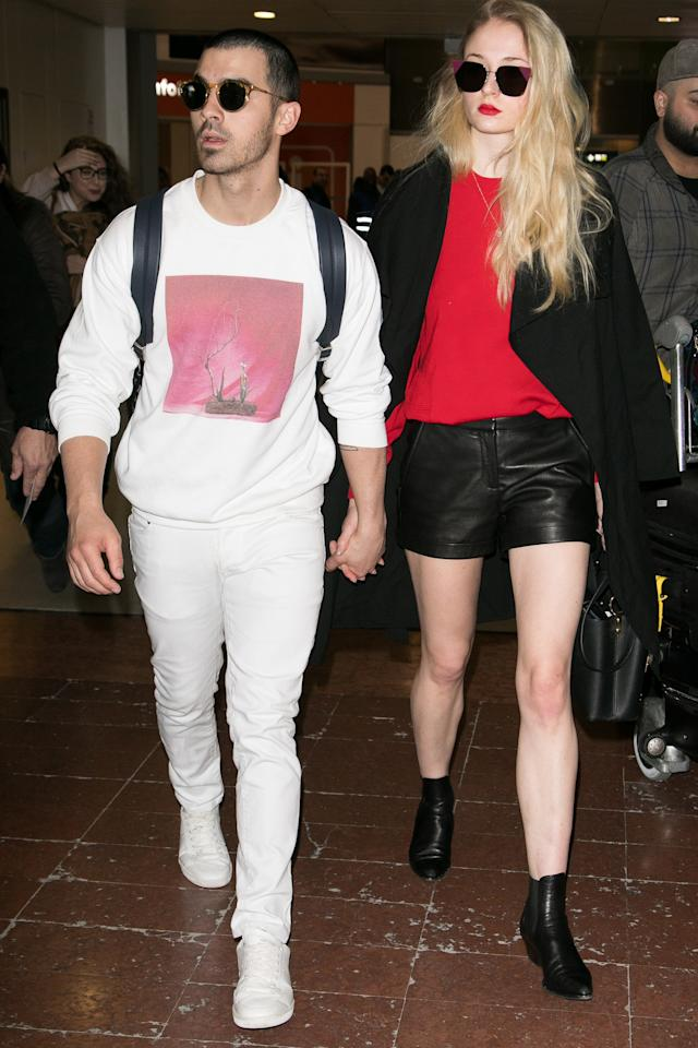 <p>WHERE: At Charles de Gaulle airport in Paris</p><p>WHEN: March 6, 2017</p><p>WHY: Because even the most basic layers in your closet look better in white.</p>