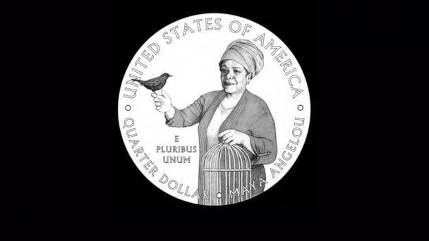 PHOTO: A samples of the new quarter coming out in 2022 that on the tail side will show images of poet Maya Angelou.  (U.S. Mint)