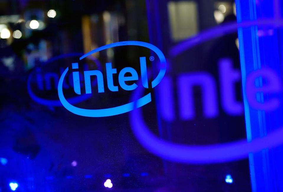 PARK CITY, UT - JANUARY 18: Intel signage is seen during the Sundance Film Festival on January 18, 2018 in Park City, Utah. (Photo by David Becker/Getty Images)
