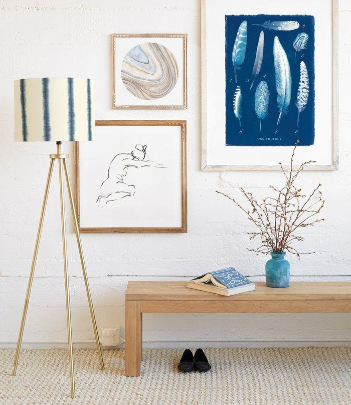 "<h3>Position Art Off Center</h3> <br>""You don't have to put art at the center of a wall. Placing your art off-center can create a visual balance with your furniture and add instant personality to a space."" — Art Stylist at <a href=""https://www.minted.com/"" rel=""nofollow noopener"" target=""_blank"" data-ylk=""slk:Minted"" class=""link rapid-noclick-resp"">Minted</a>.<br><br><strong>Lily Hanna</strong> Mineral 03, $, available at <a href=""https://go.skimresources.com/?id=30283X879131&url=https%3A%2F%2Fwww.minted.com%2Fproduct%2Fart%2FMIN-2BQ-GNA%2Fmineral-03"" rel=""nofollow noopener"" target=""_blank"" data-ylk=""slk:Minted"" class=""link rapid-noclick-resp"">Minted</a><br><br><strong>Miranda Mol</strong> Model9, $, available at <a href=""https://go.skimresources.com/?id=30283X879131&url=https%3A%2F%2Fwww.minted.com%2Fproduct%2Fart%2FMIN-39O-GNA%2Fmodel9%3Ffeature%3Ddetail%26event%3DCLICK_SHOP_NOW%26sku%3DMIN-39O-GNA%26t_api%3D1%26color%3DA%26shape%3D"" rel=""nofollow noopener"" target=""_blank"" data-ylk=""slk:Minted"" class=""link rapid-noclick-resp"">Minted</a><br><br><strong>Michelle Owen</strong> ""XO Lunar"" Limited Edition Art Print, $, available at <a href=""https://go.skimresources.com/?id=30283X879131&url=https%3A%2F%2Fwww.minted.com%2Fproduct%2Fwall-art-prints%2FMIN-082-GNA%2Fxo-lunar%3FccId%3D1917632"" rel=""nofollow noopener"" target=""_blank"" data-ylk=""slk:Minted"" class=""link rapid-noclick-resp"">Minted</a><br>"
