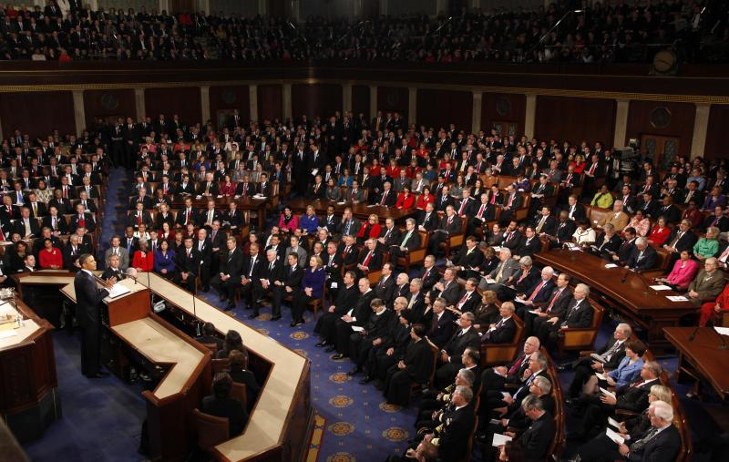 President Barack Obama delivers his State of the Union address in Washington, Tuesday, Jan. 25, 2011.  (AP Photo/Evan Vucci)