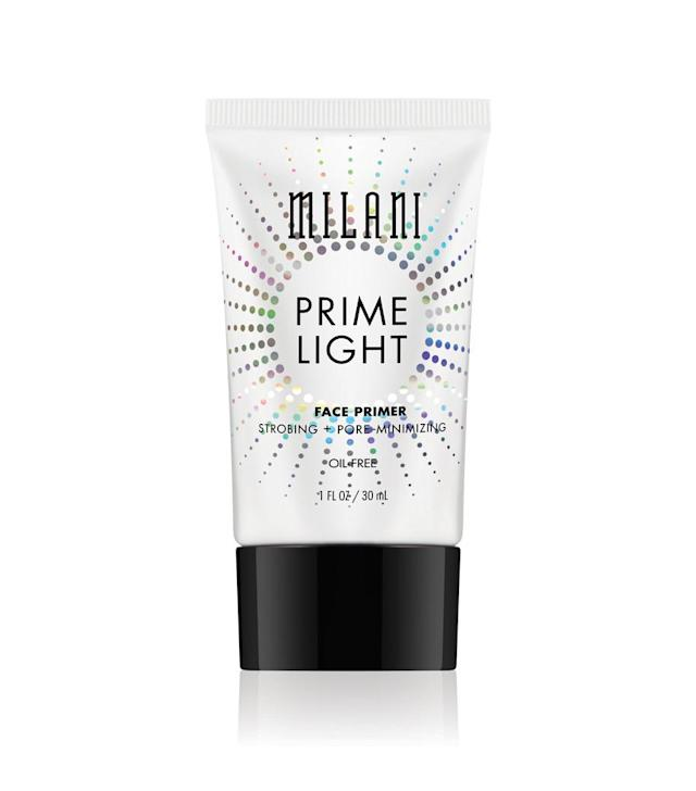 "<p>This oil-free primer enhances your complexion with a lumiousity that perks up the look of tired skin without clogging your pores due to its light texture. (<a href=""https://milanicosmetics.com/Prime-Light-Strobing-Pore-Minimizing-Face-Primer.html"" rel=""nofollow noopener"" target=""_blank"" data-ylk=""slk:$10"" class=""link rapid-noclick-resp"">$10</a>, milanicosmetics.com) </p>"