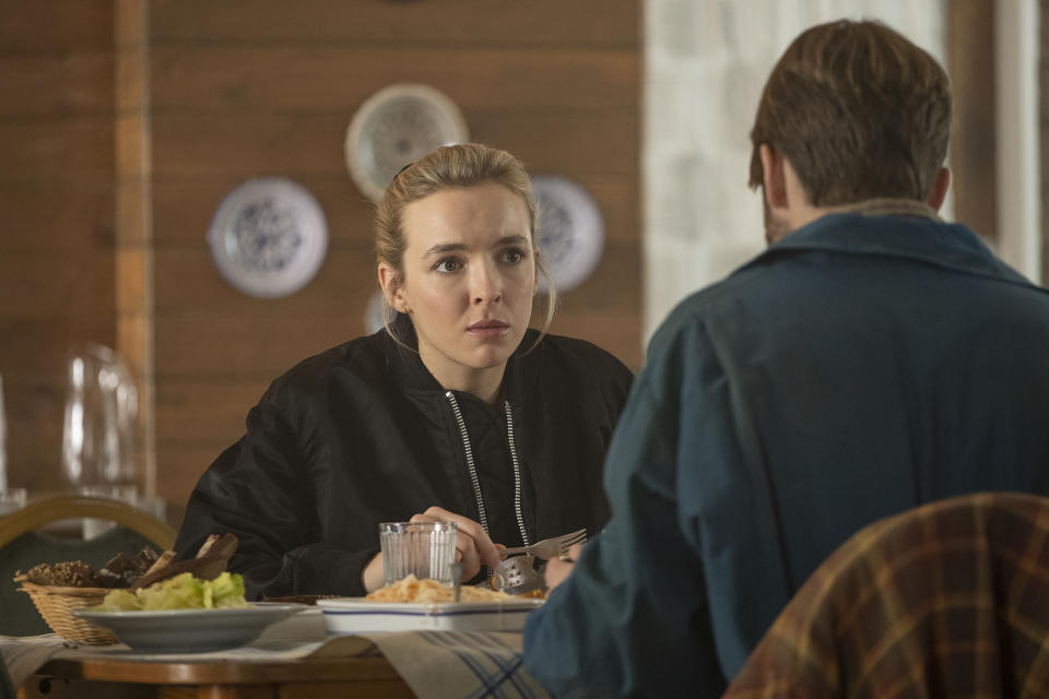 Villanelle was reunited with her family in episodes 5 of season 3. (Sid Gentle/BBC)