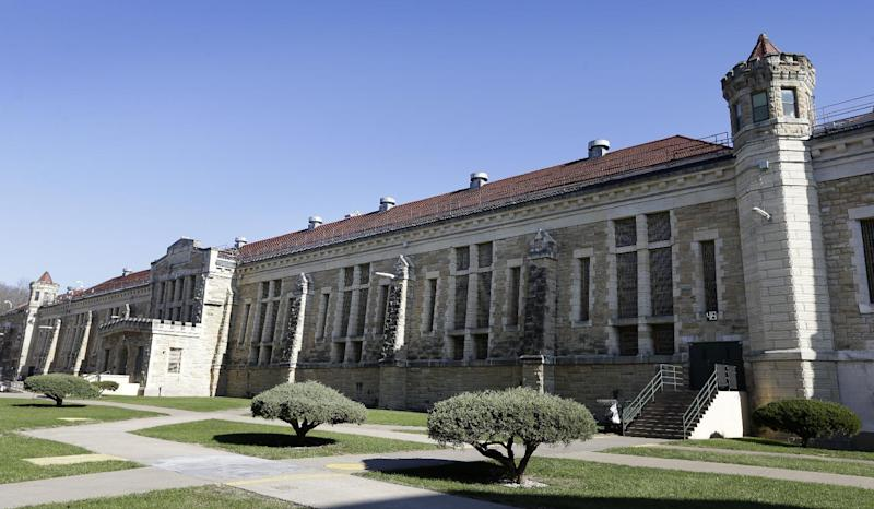 This Monday, Nov. 18, 2013, photo shows a cell block from inside the yard at the Iowa State Penitentiary in Fort Madison, Iowa. The penitentiary, the oldest in use west of the Mississippi River with a history dating back to 1839, is set to close when a $130 million replacement opens down the road next year. City and state officials are discussing how to make the best use of the sprawling and occasionally crumbling prison campus that has been the site of escapes, riots and executions. (AP Photo/Charlie Neibergall)