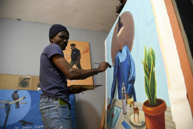 Agbaje graduated three years ago from the Yaba College of Technology, the oldest art school in Lagos -- his alma mater now has his works in its museum