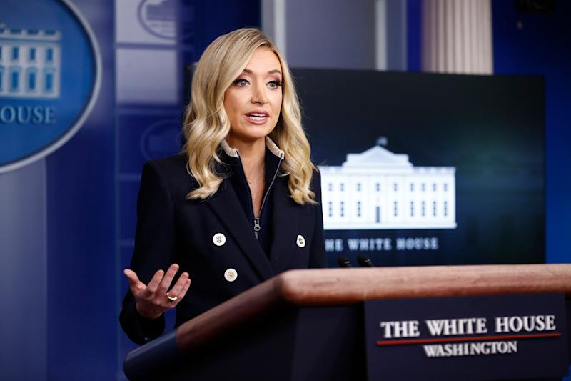White House press secretary Kayleigh McEnany frequently repeats Trump's false claims that mail-in ballots increase fraud, but she voted by mail in Florida last year using her parents' Tampa address. (Photo: ASSOCIATED PRESS)