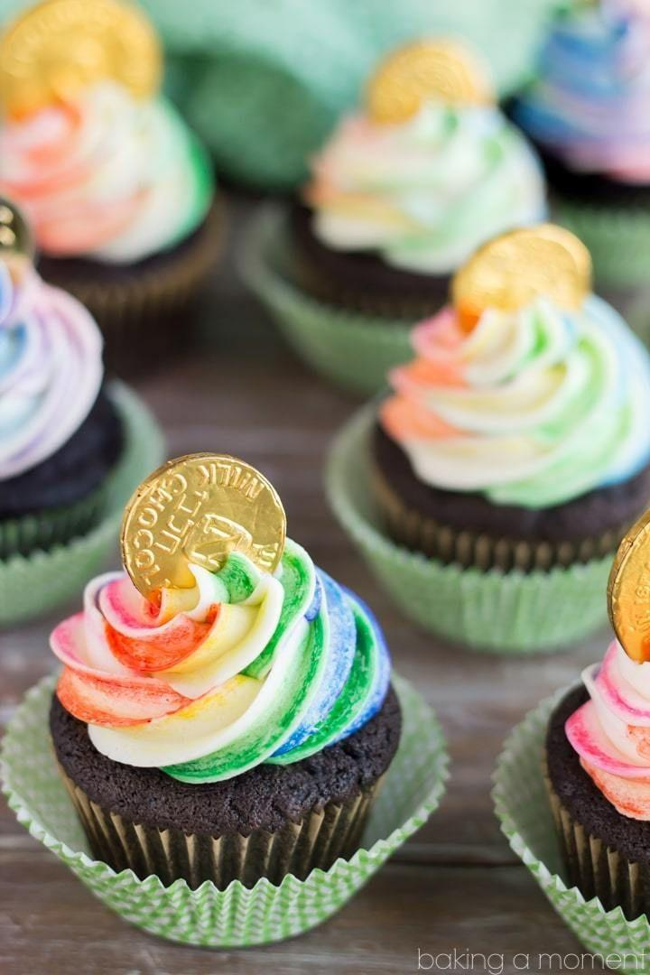 """<p>It's your lucky day!</p><p>Get the recipe from <a href=""""https://bakingamoment.com/pot-of-gold-cupcakes/"""" rel=""""nofollow noopener"""" target=""""_blank"""" data-ylk=""""slk:Baking A Moment"""" class=""""link rapid-noclick-resp"""">Baking A Moment</a>.</p>"""