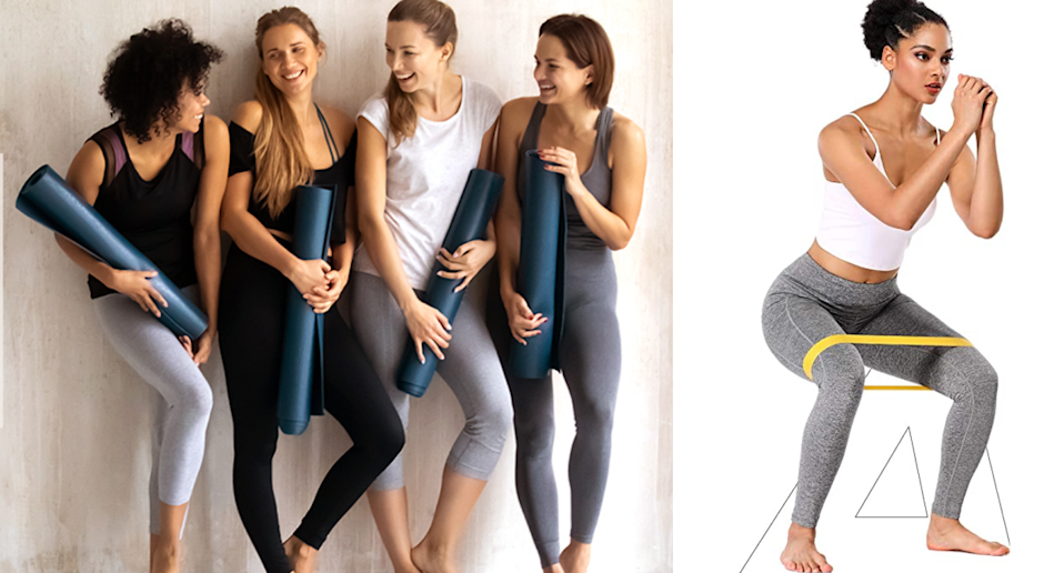 These affordable Amazon leggings are a hit among shoppers. Image via Amazon.
