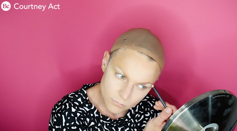 Courtney Act transforms herself into Aussie darling Soph - in under one minute. Photo: Be