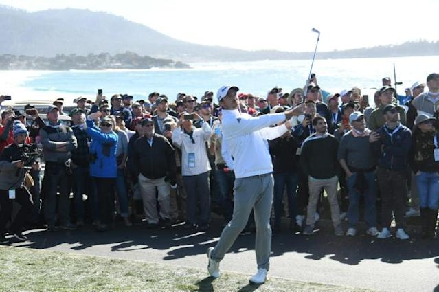 Nick Taylor held his nerve at Pebble Beach (AFP Photo/Harry How)