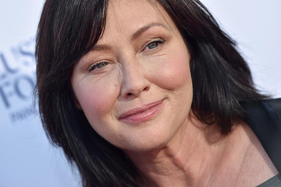 SANTA MONICA, CA - SEPTEMBER 07: Shannen Doherty attends the sixth biennial Stand Up To Cancer (SU2C) telecast at the Barker Hangar on Friday, September 7, 2018 in Santa Monica, California. (Photo by Axelle/Bauer-Griffin/FilmMagic)