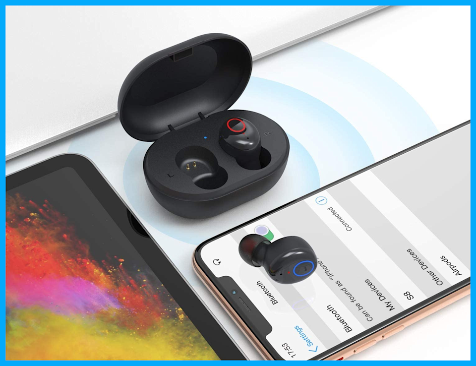 These Kurdene Wireless Earbuds are on sale for just $17, or $23 off, today only! (Photo: Amazon)