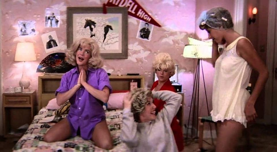 The sleepover scene in 'Grease' is truly iconic. (Paramount Pictures)