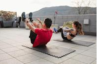 <p>Even if your gym is closed, you can sign up for an online fitness class or bootcamp via your local gym or an online event site. Or do a couples-friendly version of your favorite workout. </p>