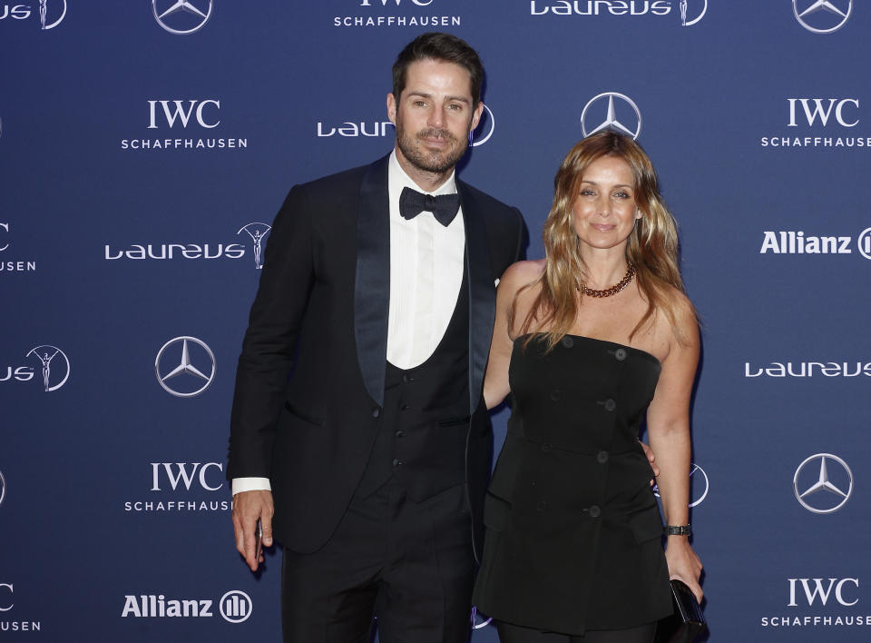BERLIN, GERMANY - APRIL 18: Jamie Redknapp and Louise Redknapp attend the Laureus World Sports Awards 2016 at the Messe Berlin on April 18, 2016 in Berlin, Germany. (Photo by Franziska Krug/Getty Images)