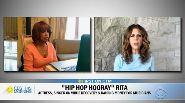 Rita Wilson Shared Her COVID-19 Experience With Gayle King
