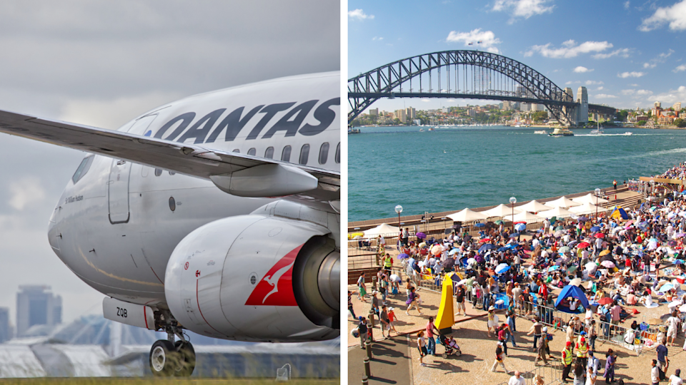 Qantas chief Alan Joyce is negotiating with the NT government to allow the London flight to land in Darwin. Source: Getty