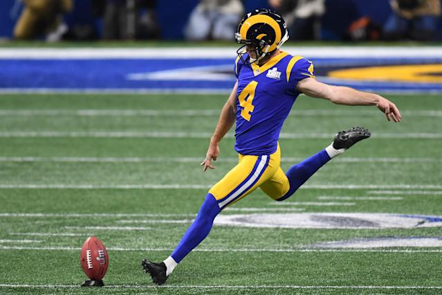 "<a class=""link rapid-noclick-resp"" href=""/nfl/players/25881/"" data-ylk=""slk:Greg Zuerlein"">Greg Zuerlein</a> had an excellent 2019-20 debut. Mandatory Credit: Dale Zanine-USA TODAY Sports"