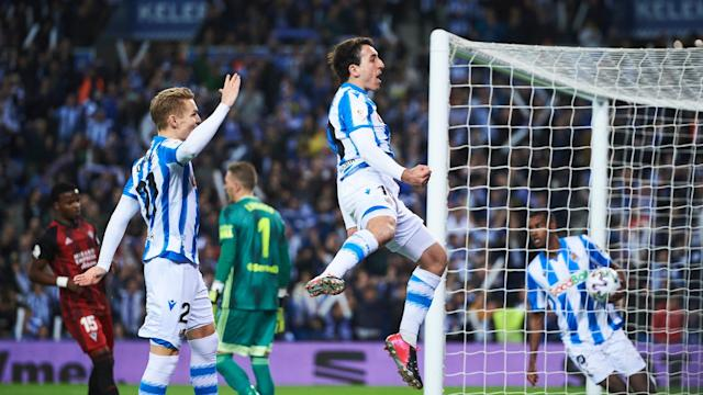 Martin Odegaard came up with a potentially precious strike as Real Sociedad toiled against Mirandes but claimed a first-leg lead.