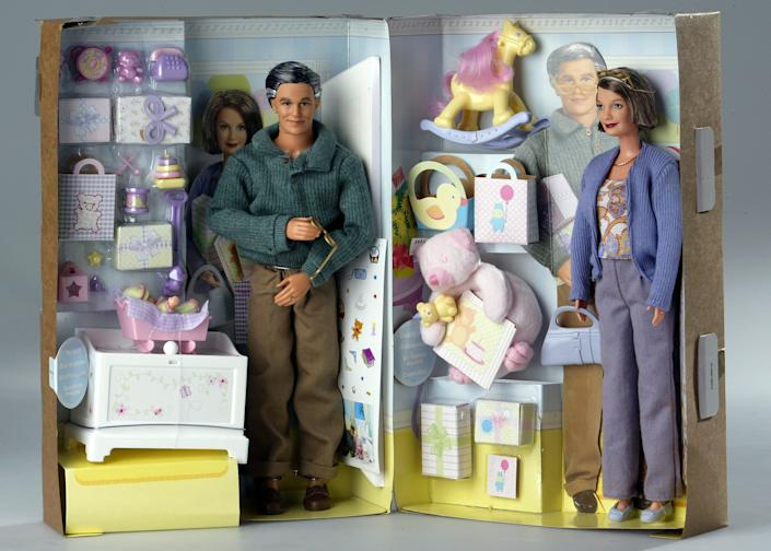 Grandpa and Grandma Barbie were released as part of the Happy Family Barbie set in 2003. (Photo: Getty Images)
