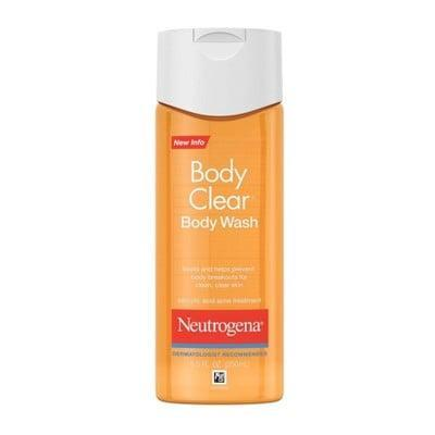 <p>The salicylic-acid-packed <span>Neutrogena Body Clear Acne Body Wash With Glycerin</span> ($6) is a dermatologist-approved cleanser specially designed to fight acne all over the body.</p>